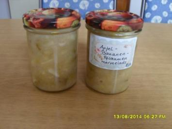 Apfel-Bananen-gelbe Pflaumen-Marmelade - Rezept