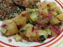 Wasabbi-Kartoffelsalat mit Kohlrabi-Schnitzel - Rezept