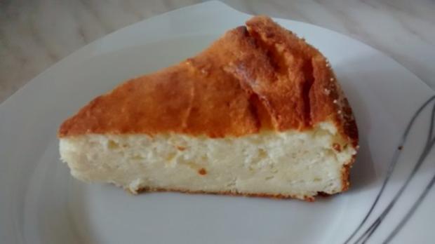 schneller Quark- Käsekuchen mit Vanillegeschmack - Rezept