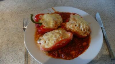 Gefüllte Paprika vegetarisch - Rezept