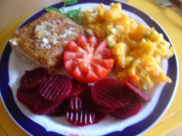 Schlemmerfilet mit Möhren-Kartoffel-Stampf und Rote Bete-Salat - Rezept - Bild Nr. 13