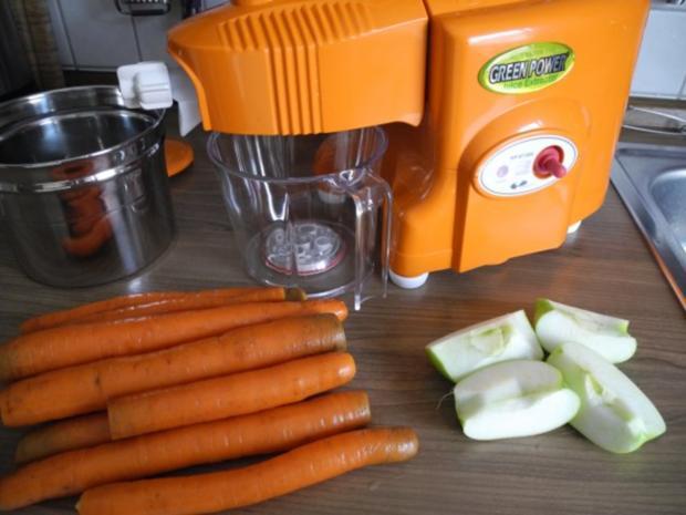 Selbstgepressten Karotten - Apfelsaft - Rezept - Bild Nr. 2