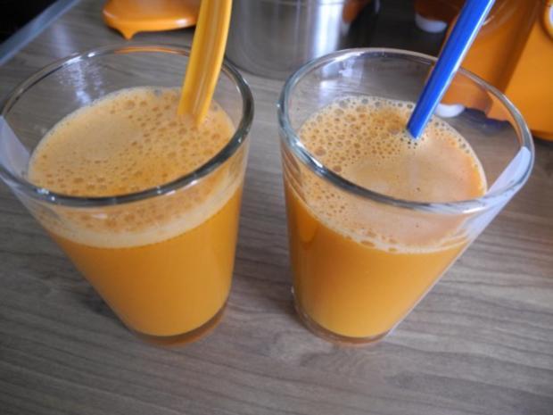 Selbstgepressten Karotten - Apfelsaft - Rezept