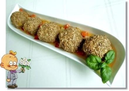 Sesambällchen aus dem Backofen - Rezept