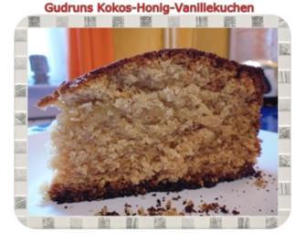 Kuchen: Kokos-Honig-Vanillekuchen - Rezept