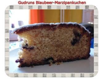 Kuchen: Blaubeer-Marzipankuchen - Rezept