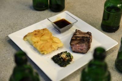Männerfleisch mit Männersoße und Anstandsdeko  Glaciertes Rinderfilet (Jan Leyk) - Rezept