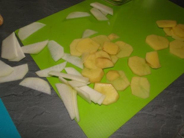 Kohlrabi-Kartoffelauflauf mit Käse Männe wollte Frikadellen dazu - Rezept - Bild Nr. 3