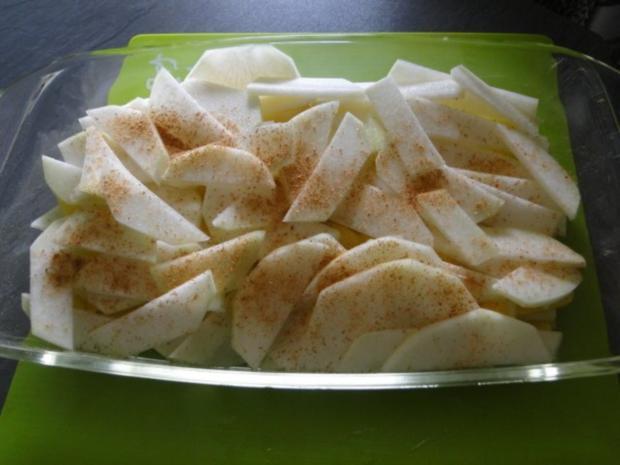 Kohlrabi-Kartoffelauflauf mit Käse Männe wollte Frikadellen dazu - Rezept - Bild Nr. 4