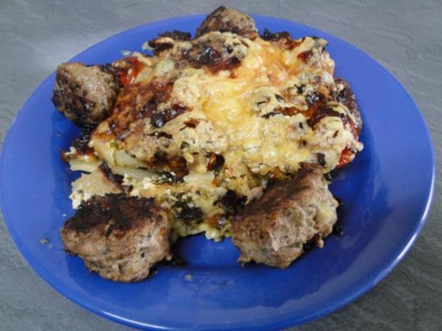 Kohlrabi-Kartoffelauflauf mit Käse Männe wollte Frikadellen dazu - Rezept - Bild Nr. 11