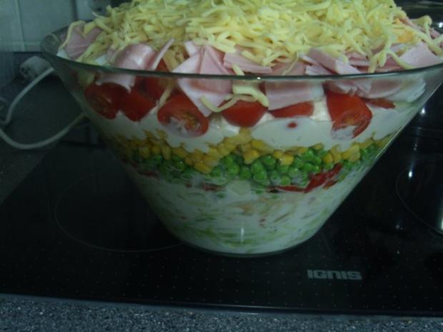 Schichtsalat mit geschmorter Paprika - Rezept - Bild Nr. 8