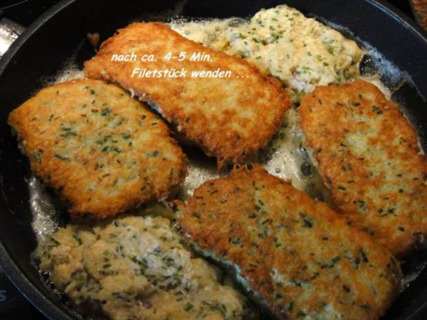 Fisch:   SEELACHS-FILET in Kartoffelkruste - Rezept - Bild Nr. 8