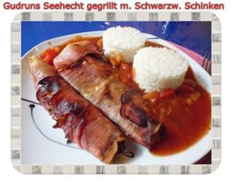 Rezept: Fisch: Seehecht im Schwarzwälder Mantel gegrillt