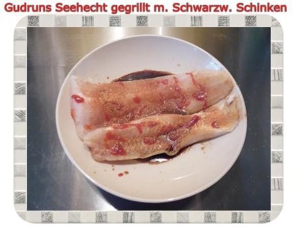 Fisch: Seehecht im Schwarzwälder Mantel gegrillt - Rezept - Bild Nr. 4