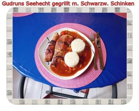 Fisch: Seehecht im Schwarzwälder Mantel gegrillt - Rezept - Bild Nr. 14