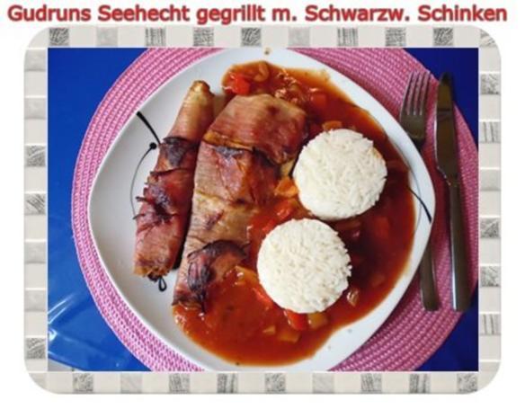 Fisch: Seehecht im Schwarzwälder Mantel gegrillt - Rezept - Bild Nr. 15