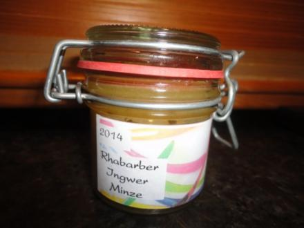 Rhabarber - Ingwer - Minze Marmelade - Rezept