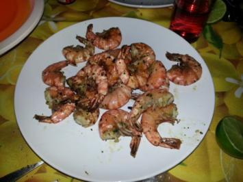 Rezept: ~ Mediterrane Knoblauch-Garnelen vom Grill ~