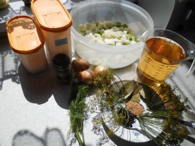 Senf-Dill-Gurken süß-sauer - Rezept - Bild Nr. 2