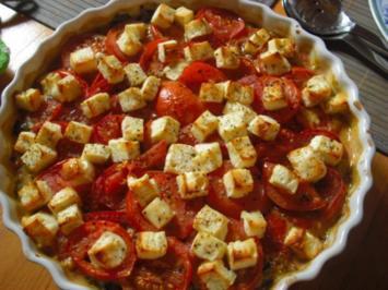 Mangold-Gratin mit Tomaten und Schafskäse - Rezept
