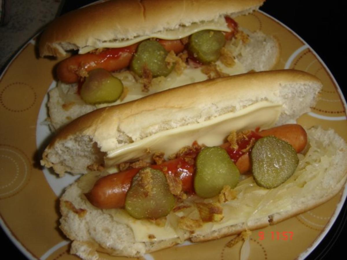 heimi s hot dog rezept mit bild. Black Bedroom Furniture Sets. Home Design Ideas
