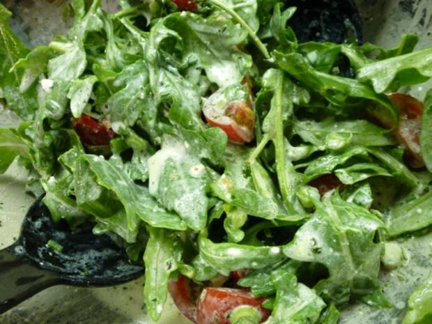 Wilde Rauke-Tomatensalat - Rezept - Bild Nr. 3