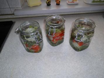 Grüne Bohnen mit Paprikaschoten süß-sauer eingelegt - Rezept