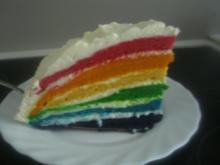 Regenbogen-Torte - Rezept