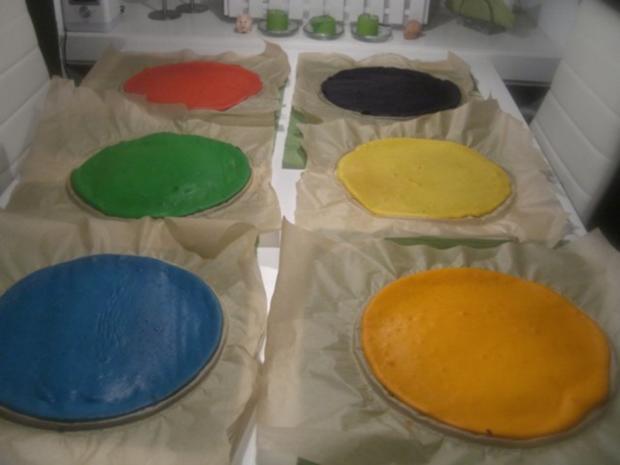 Regenbogen-Torte - Rezept - Bild Nr. 9
