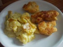 Vegetarisch - Gebratener Blumenkohl mit Kartoffel-Zucchini-Gratin - Rezept