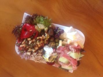 Rezept: Raclette oder fonduereste Antipastiplatte