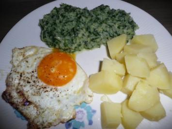Mangold an Salzkartoffeln & Spiegelei. - Rezept