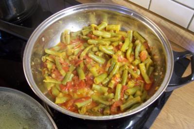 Bohnen-Tomaten-Gemüse - Rezept