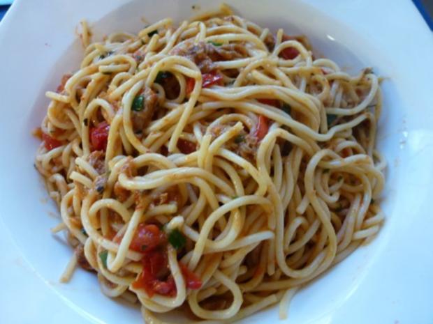 Knoblauch-Tomatenspaghetti - Rezept - Bild Nr. 6
