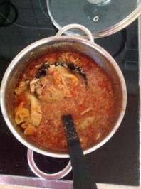 Tomatisierte Suppe Allerlei.....und es schmeckt  besser als es aussieht - Rezept