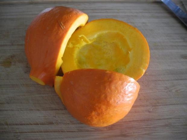 Avocado - Kürbis - Soße  an Tortellini mit Bärlauchfüllung - Rezept - Bild Nr. 2