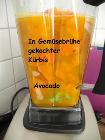 Avocado - Kürbis - Soße  an Tortellini mit Bärlauchfüllung - Rezept - Bild Nr. 6