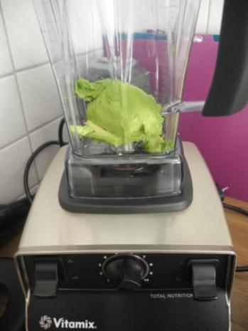 Avocado - Kürbis - Soße  an Tortellini mit Bärlauchfüllung - Rezept - Bild Nr. 5