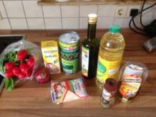 Schneller Bohnen-Radieschen Salat mit Feta - Rezept