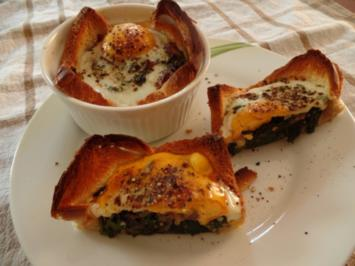 Rezept: Spinat-Törtchen mit Ei