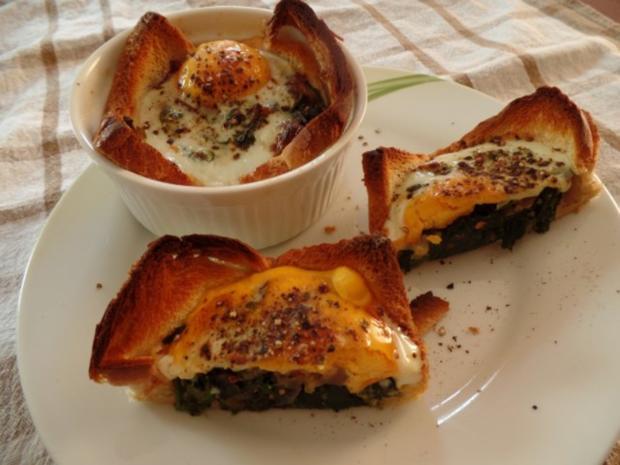 Spinat-Törtchen mit Ei - Rezept