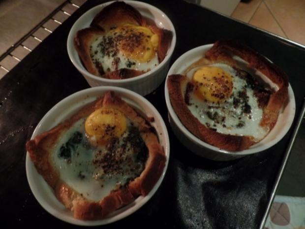 Spinat-Törtchen mit Ei - Rezept - Bild Nr. 2