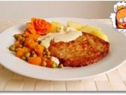 Minutensteak nappiert mit Sauce Café de Paris, dazu gedünstetes Gemüse und ... - Rezept