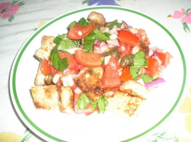 """Tomaten Brot-Salat """"Panzanella"""" - Rezept"""