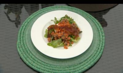 Büffelmozzarella mit Papaya-Parma-Salsa - Rezept