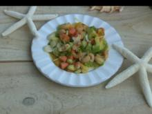 Papaya-Kräutersalat mit Cashewnüssen - Rezept
