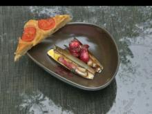 Rote-Bete-Austern mit Schwert-Muscheln und Focaccia - Rezept - Bild Nr. 5987