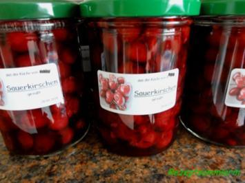 Einkochen:   SAUERKIRSCHEN - Rezept
