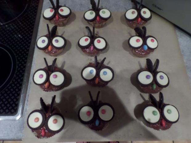 Eulen Cupcakes - Rezept - Bild Nr. 2