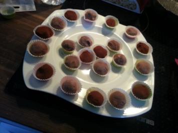 Kleine Trüffelpralinen - Rezept